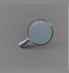 Magnifying glass isolated on a transparent vector