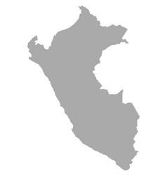 Map peru vector