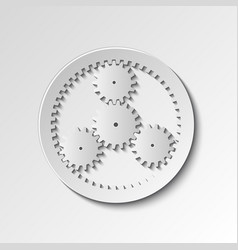 mechanical watches gears vector image