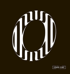 o letter formed parallel lines a letter made vector image