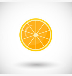 Orange fruit flat icon vector