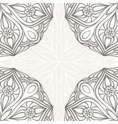 Ornamental corner lace frame vector