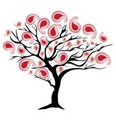 paisley tree vector image vector image
