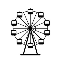 panoramic wheel isolated icon vector image
