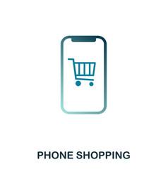 phone shopping icon flat style icon design ui vector image