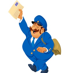 Postman with letters vector