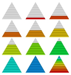 Progress bars set triangles vector image