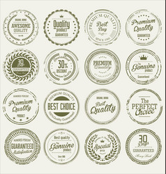 quality grunge stamp collection vector image