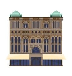 Queen Victoria Building icon in cartoon style vector