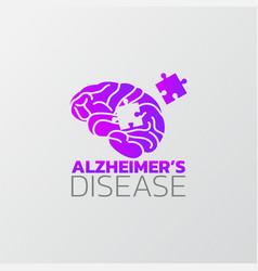 Risk factors for alzheimers disease icon design vector