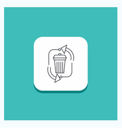 round button for waste disposal garbage vector image