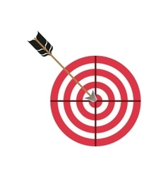 round target icon vector image