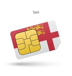 Sark mobile phone sim card with flag vector