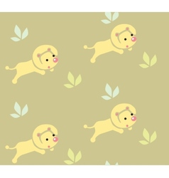 Seamless pattern with funny lions vector image