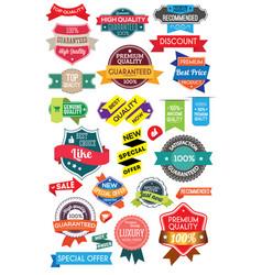 set marketing labels vector image