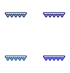 Set of paper stickers on white background festive vector