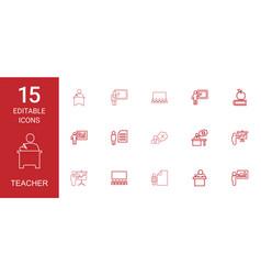 teacher icons vector image