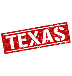 Texas red square stamp vector