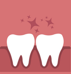 tooth in gums vector image