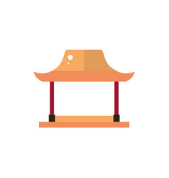 torii gate architecture traditional japan icon vector image