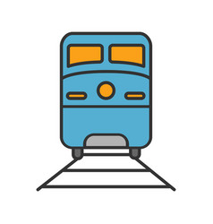 train color icon vector image