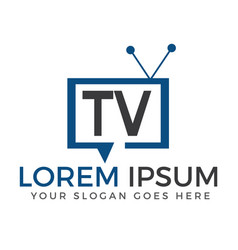 tv logo design vector image