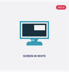 two color screen in white icon from user vector image