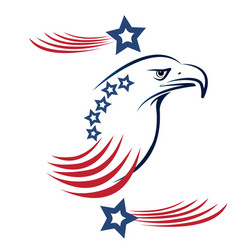 usa eagle pride stars and stripes symbol vector image