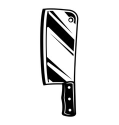 Vintage meat cleaver knife icon vector