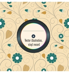 Vinyl record in the envelope vector image