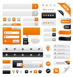 web navigation set vector image