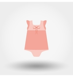 Baby Dress Rompers Icon vector image vector image