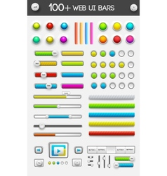 big collection of web ui elements vector image