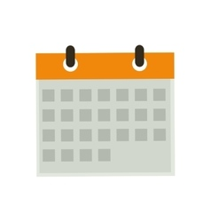 Isolated calendar date vector image vector image