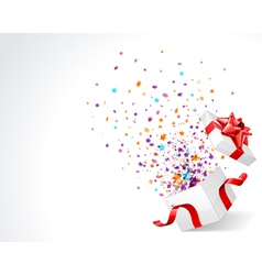 open explore gift with fly stars vector image