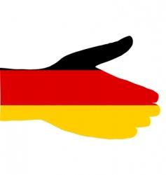 German handshake vector image vector image