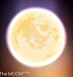 Moon in dark night background vector image