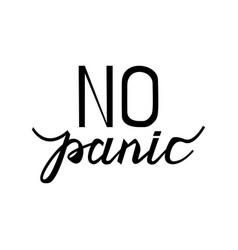 text no panic vector image