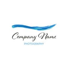 Water wave brush logo template grunge wave logo vector