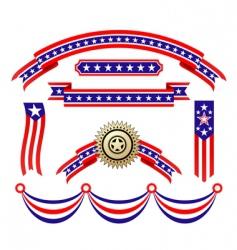 american patriotic ribbons vector image vector image