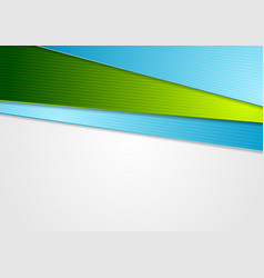 blue and green abstract corporate background vector image vector image