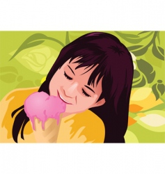 ice-cream child vector image vector image