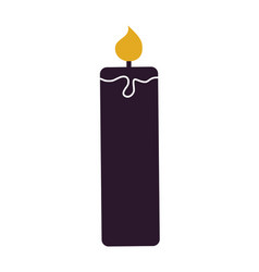 illuminating candle silhouette vector image vector image