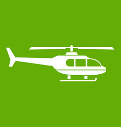 military helicopter icon green vector image