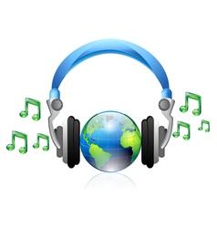 music headphone vector image