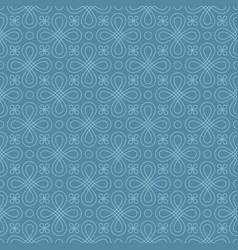 neutral seamless linear flourish pattern vector image vector image