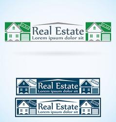 Real Estate logo design template color set House vector image