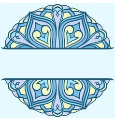 Rounded ornament vector image