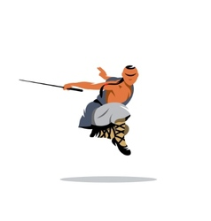 Shaolin monk veector sign vector image