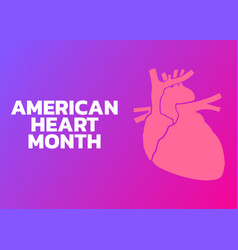 american heart month logo vector image vector image